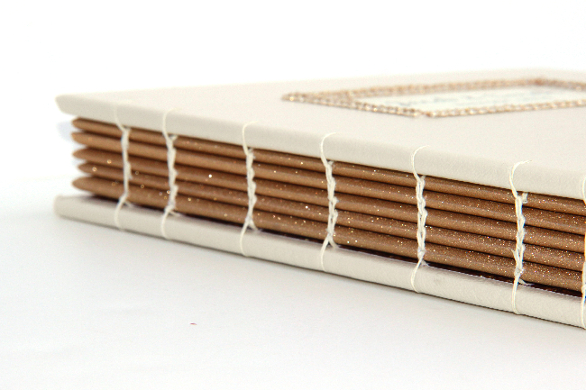 Custom wedding guestbook - spine view