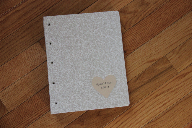 Custom wedding guestbook