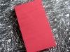 Red silk lie-flat sketchbook - front view