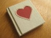 Embroidered hardcover mini notebook