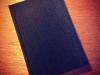 Black silk hardcover notebook