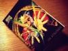 Repurposed trading card notebook