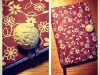 India paper notebook with antique button