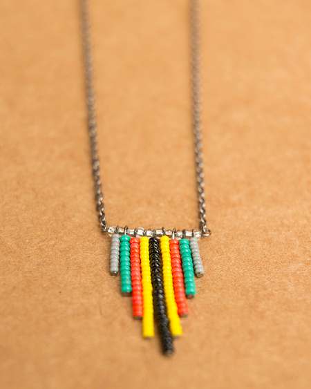 Vibrant seed bead necklace