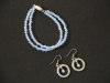 Opalite double stranded bracelet with matching earrings