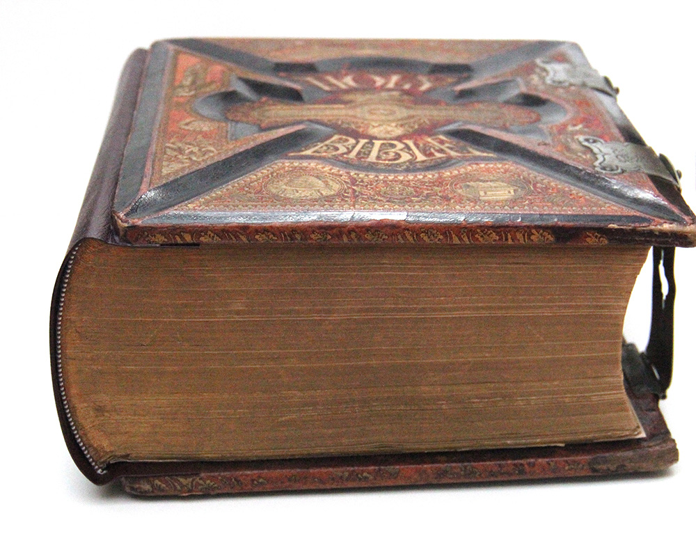 Antique holy bible restoration in New York