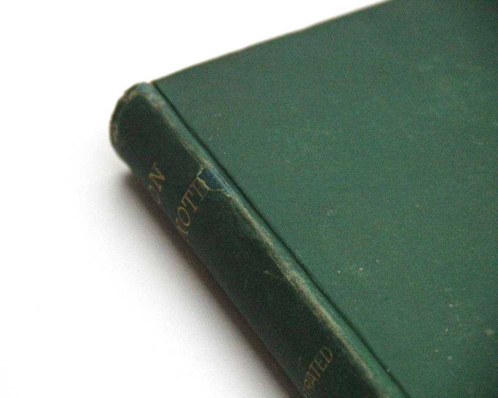 Green old book fixing