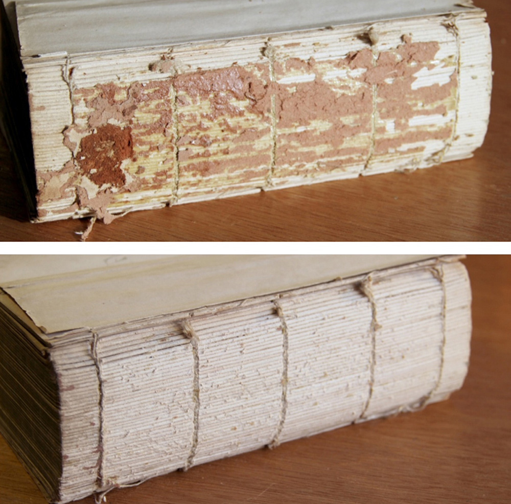 Old book cleaning transformation