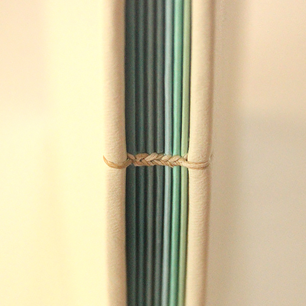 Detailing of a coptic book binding in Rochester, NY