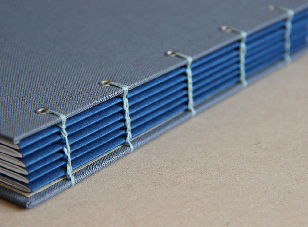 Custom coptic notebook in blue