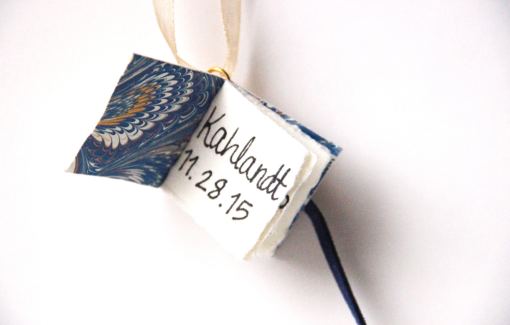 handwritten miniature book