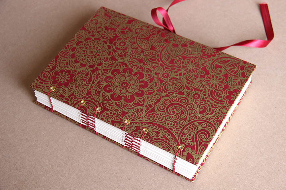 DIY journal created in a bookbinding workshop with Just Terrific handmade books.