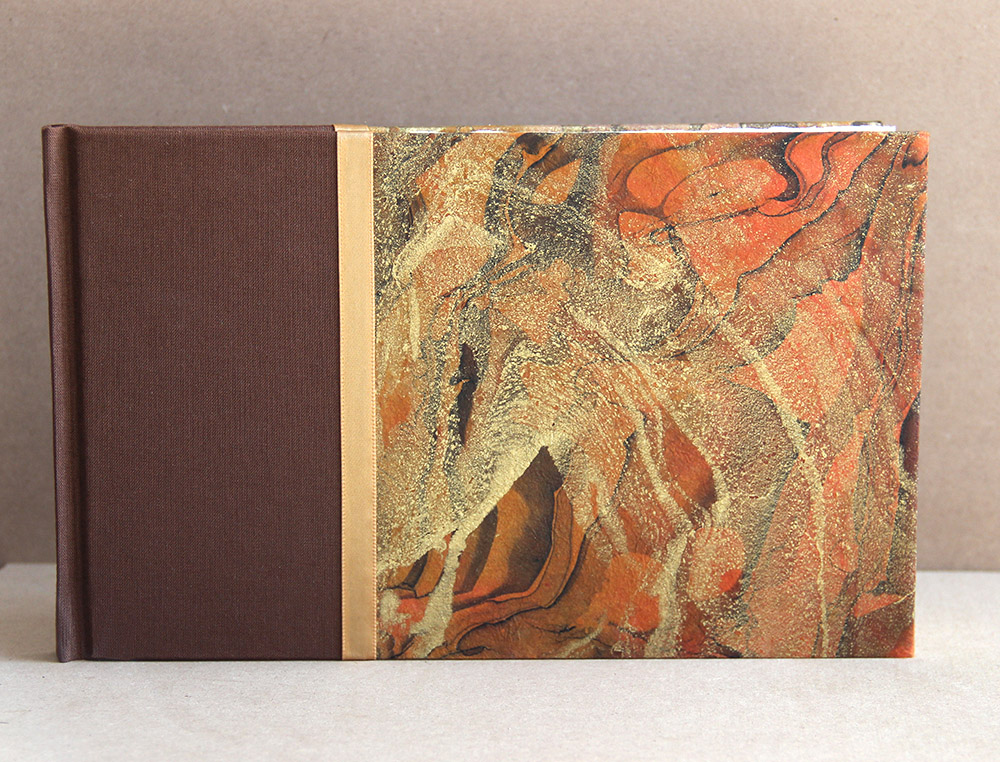 marbled paper hardcover book - Just Terrific