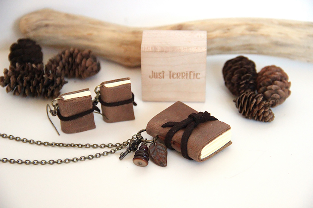 Miniature Book Jewelry Set Crafted By Just Terrific