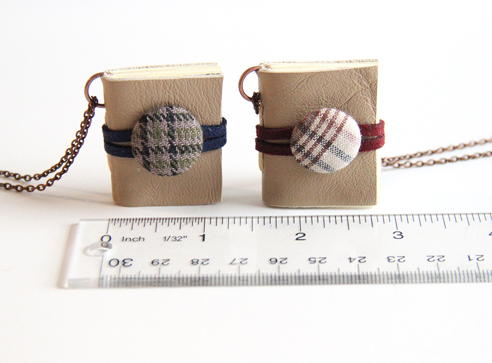 Measurement of tiny tweed books created by Just Terrific