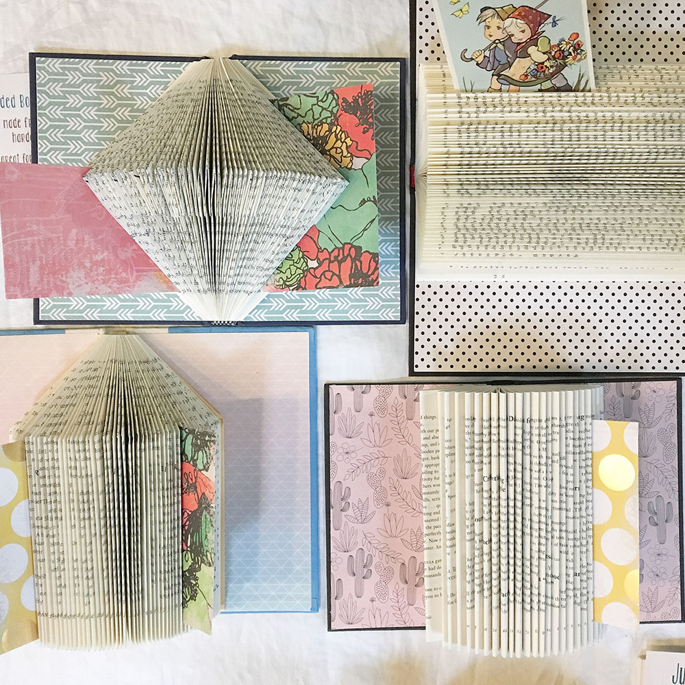 Unique desk organizers for writers created from books.