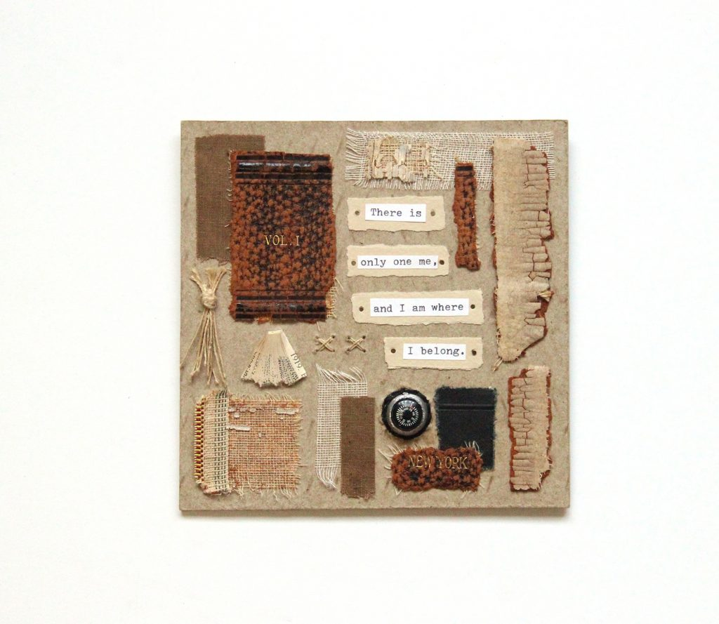 book art Vol. 1, made from old book scraps