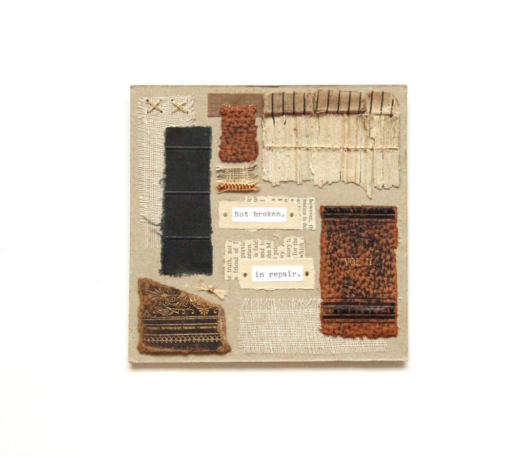 book art Vol. 2, made from old book scraps