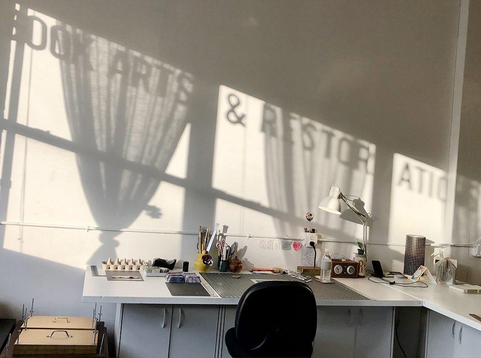 Just Terrific Bookbinding studio