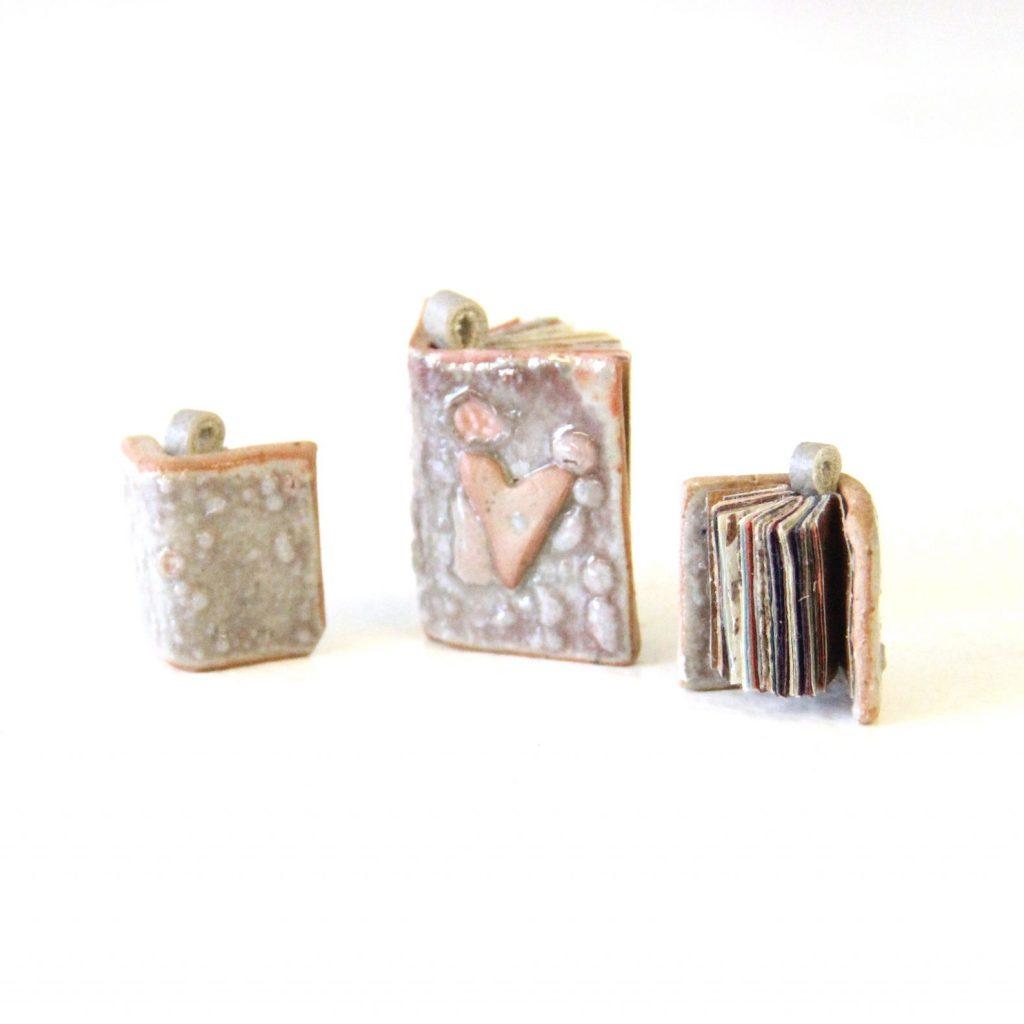 ceramic miniature book bound with rice paper