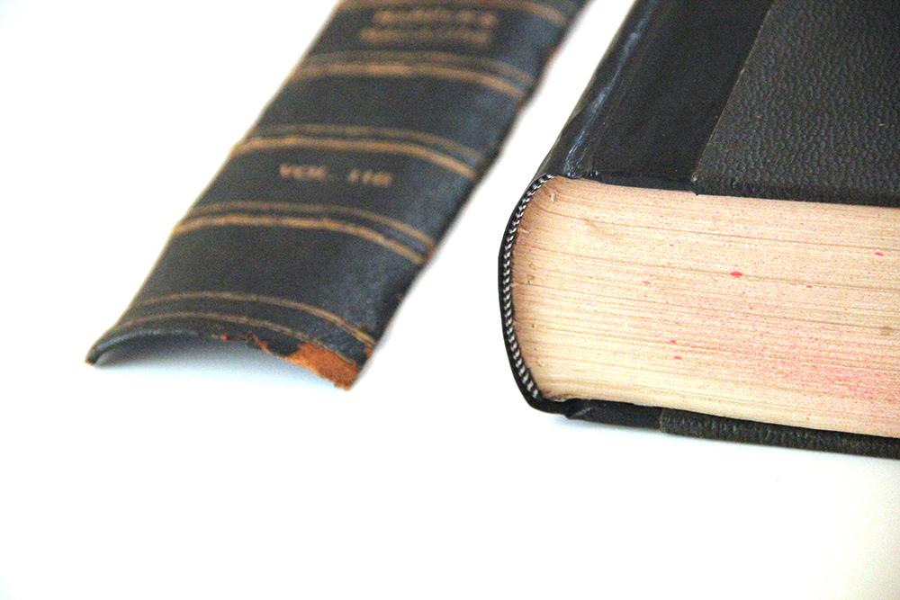 Fixed broken book spine
