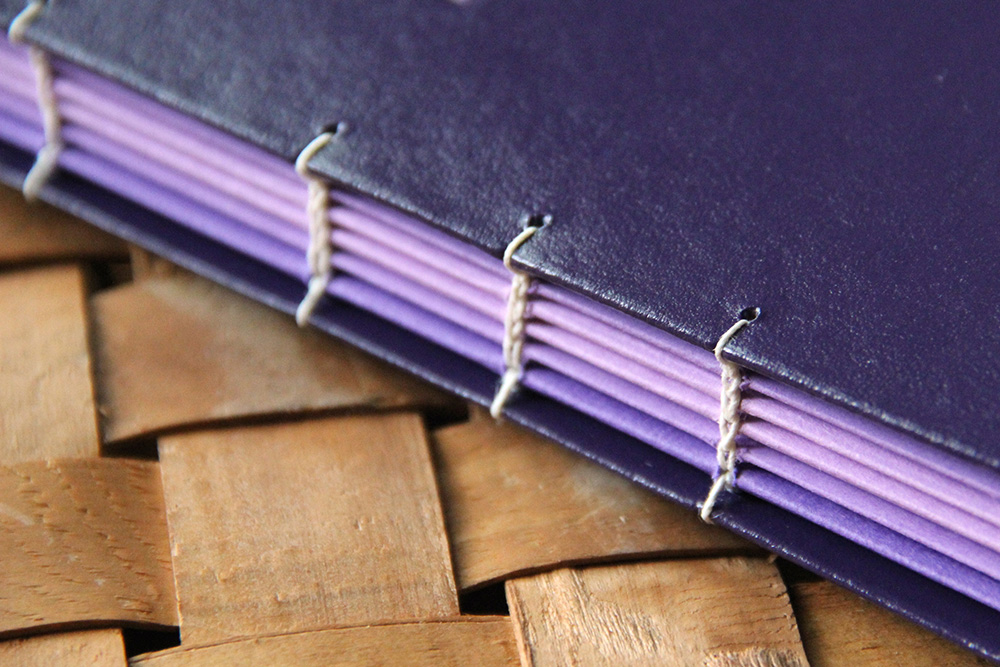 Book binding service with a colored book edge to make a book stand out
