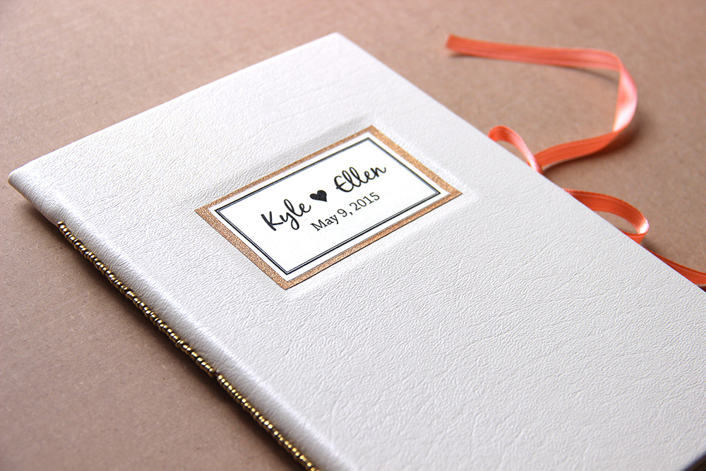 Custom wedding vow book or wedding ceremony book created in Rochester, NY