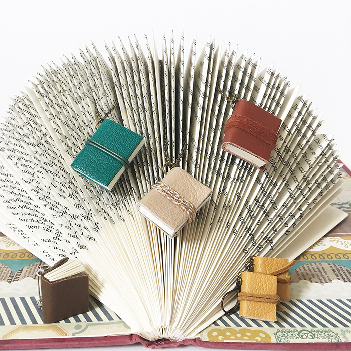 Detailing on a piece of folded book art