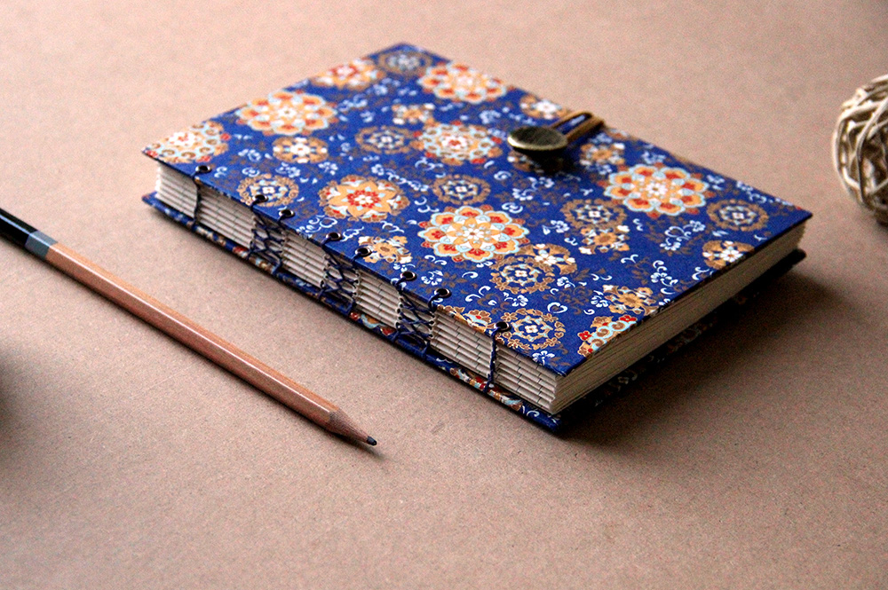 French stitched book custom made in Fairport, New York