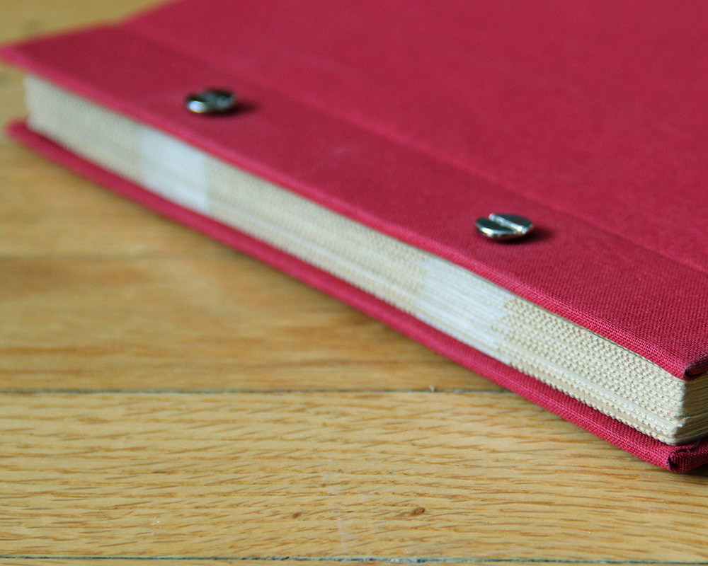 Custom photo album makes for a perfect wedding guest book