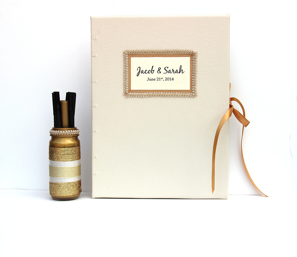leather guestbook for your wedding day