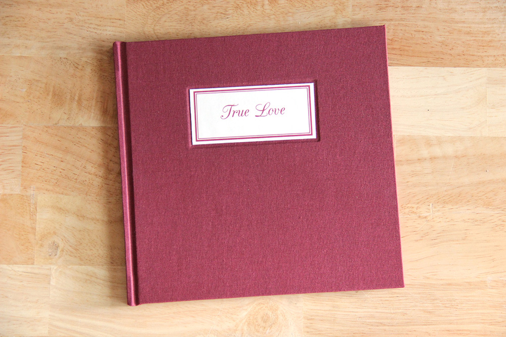 Save your love notes in a handmade book