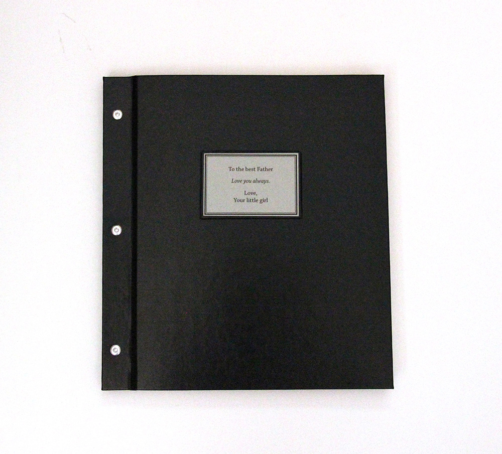 custom leather memory book made with post binding