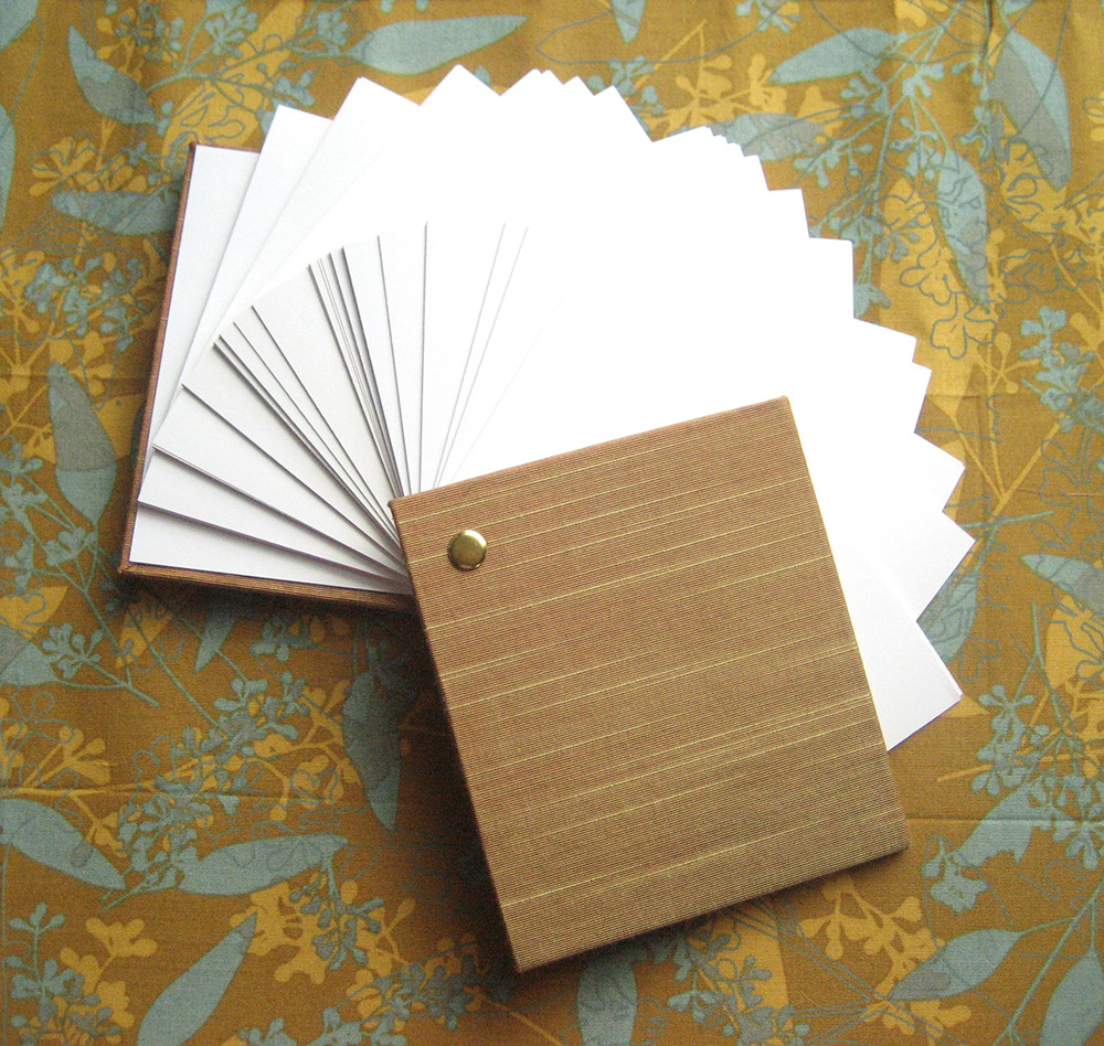 Small post bound blank notebook