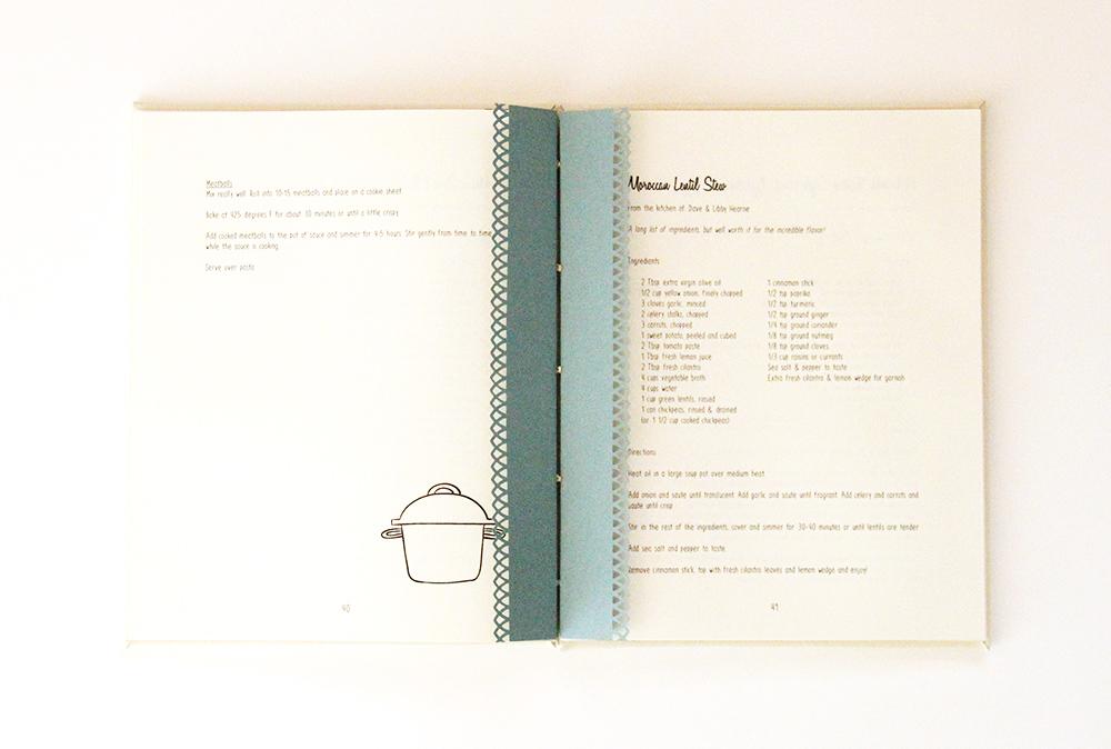Family recipe book spread - Just Terrific
