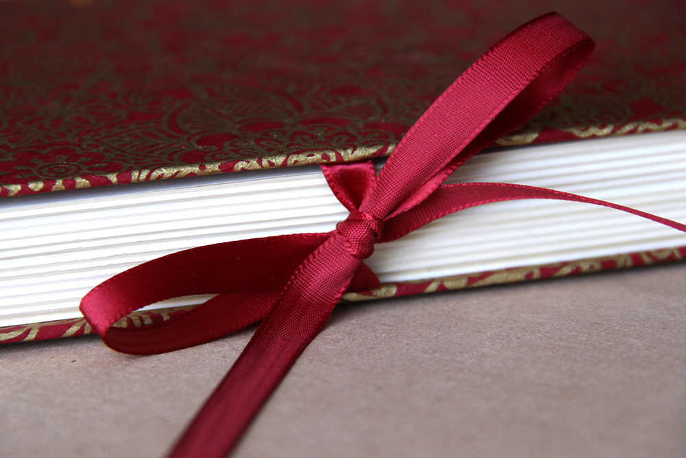 Handmade ribbon tied book - Rachael Gootnick with Just Terrific