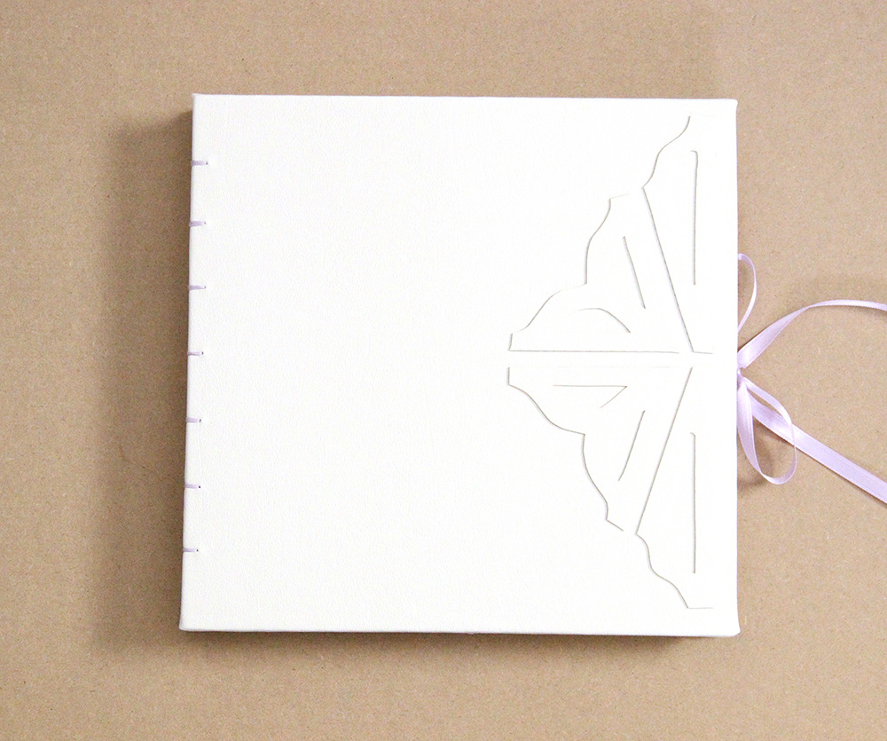 Book detailing on wedding book